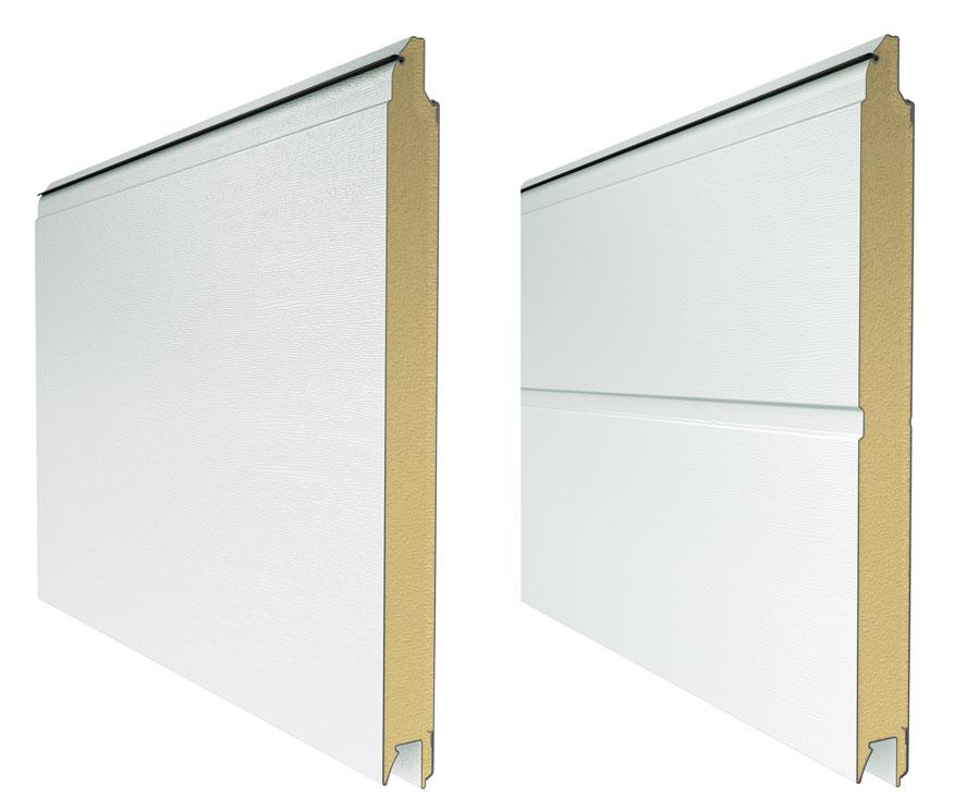 L-гофр без тиснения (smooth) цвет RAL 9016 (белый) и М-гофр